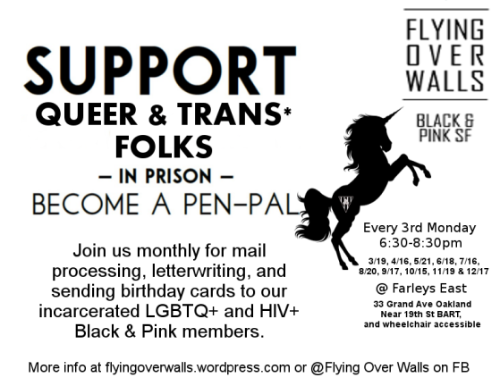 Support Queer Trans Folks In Prison Become A Pen Pal Join Us Monthly For Mail Processing Letterwriting And Sending Birthday Cards To Our